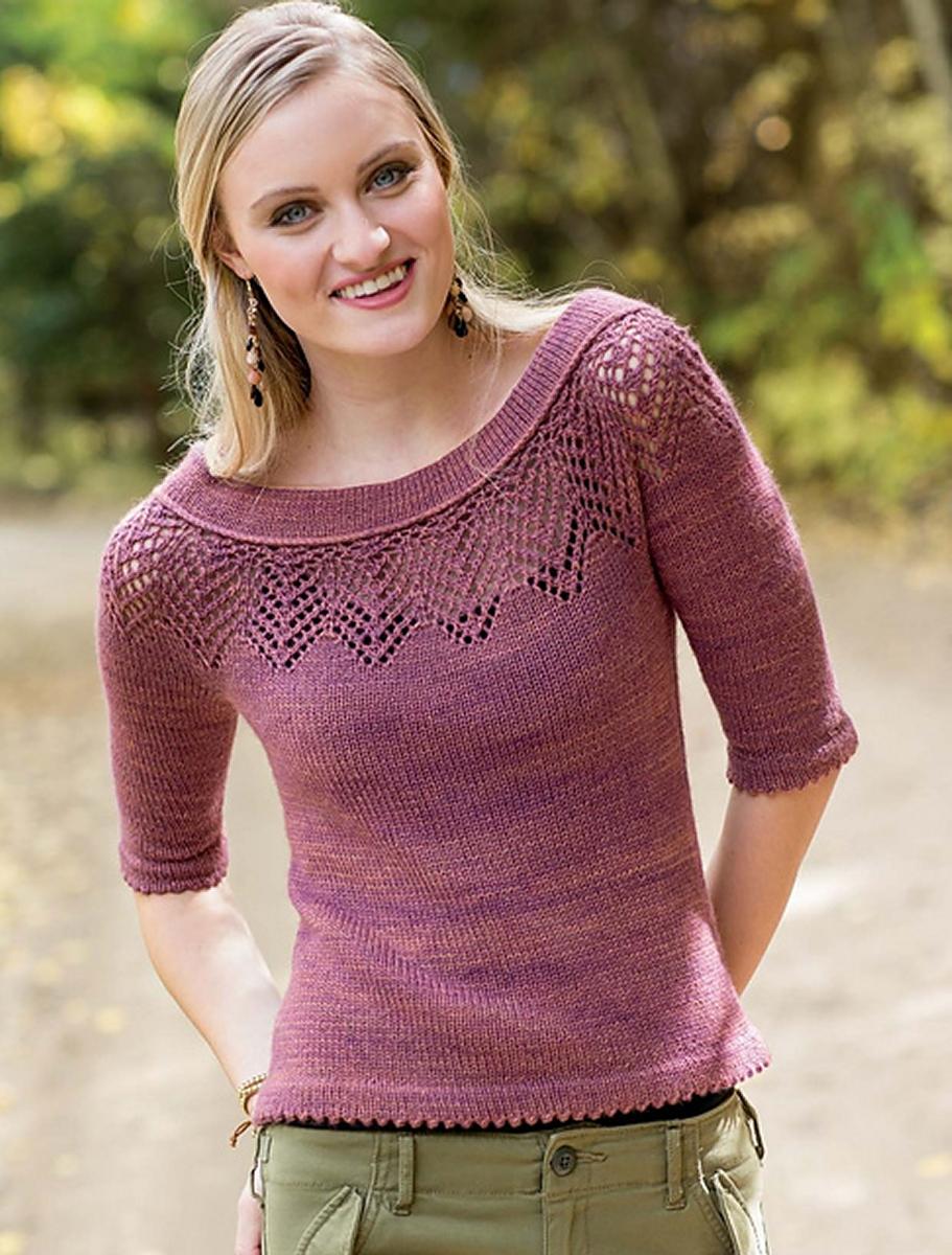 Вязаные свитера спицами женские схемы, описание и видео 82