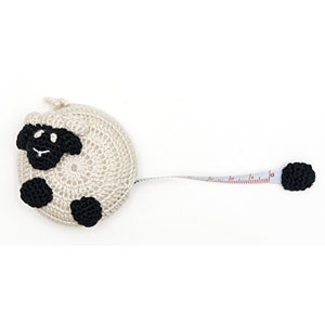 Buttons, Etc & Paradise Exotic Accessories Crocheted Tape Measures Sheep