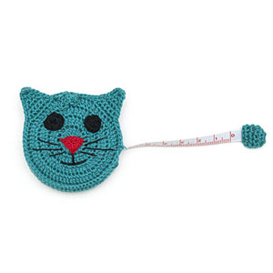 Buttons, Etc & Paradise Exotic Accessories Crocheted Tape Measures Cat