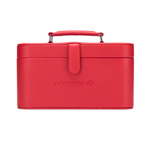 Namaste Maker's Train Case Red