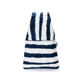 della Q Nora Wrist Bag - 1300-1 *Watercolor - Navy Stripe