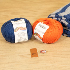 Jimmy Beans Wool Football Scarf Starter Kit kits Denver