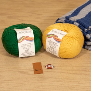 Jimmy Beans Wool Football Scarf Starter Kit kits Green Bay