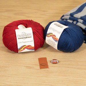 Jimmy Beans Wool Football Scarf Starter Kit kits New England