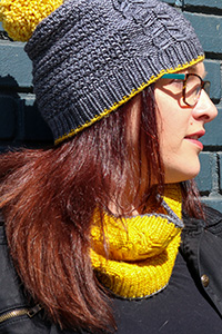 Tian Connaughton Designs Roslindale Hat and Cowl - PDF DOWNLOAD