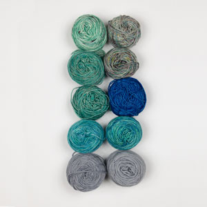 Jimmy Beans Wool Mini and Scraps Grab Bags kits Hand Dyed Yarns Grab Bag (fingering) - Blue/Grey