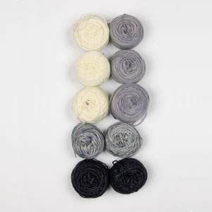 Jimmy Beans Wool Mini and Scraps Grab Bags kits Hand Dyed Yarns Grab Bag (fingering) - Neutrals