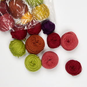 Jimmy Beans Wool Mini and Scraps Grab Bags kits Cascade Heritage and Berroco Comfort Minis - Multi