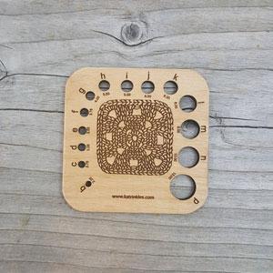 Katrinkles Crochet Hook Gauge Granny Square