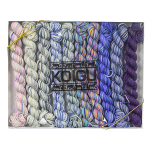 Koigu Pencil Box yarn Snow Queen (Sparkle)