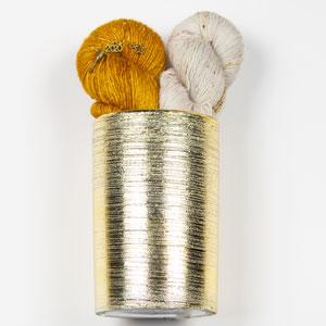 Jimmy Beans Wool Zarya Shawl Bouquet kits Good Silence/Liquid Gold