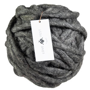Love Fest Fibers Tough Love Tiny yarn Charcoal
