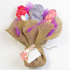 Jimmy Beans Wool Saltwater Taffy Valentine Bouquet kits Moonstone