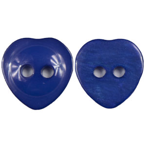 Blue Moon Button Art Plastic Buttons 20mm Heart Buttons- Navy
