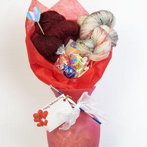 Jimmy Beans Wool Majura Shawl Valentine Bouquet - Crochet kits Tart & Peppercorn