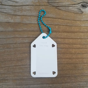 Katrinkles Write On/ Wipe Off Project Tags White Tag- Teal Chain