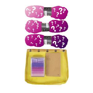 Madelinetosh 3 Skein Onesie Mystery Grab Bags kits Tosh Merino Light - Pinks & Purples