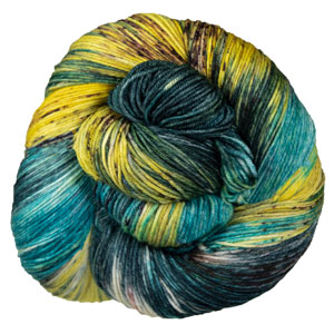 Madelinetosh Euro Sock yarn Jaded Dreams