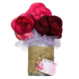 Jimmy Beans Wool Madelinetosh Yarn Bouquets kits The Girl From the Grocery Store - Pink & Purple Mystery
