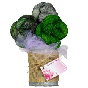 Jimmy Beans Wool Madelinetosh Yarn Bouquets kits Waroo (crochet) - Green Mystery