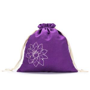 della Q Large Eden Pouch - 119-2 *Linen Brights - Violet