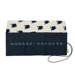 della Q Crochet Roll - 168-2 *Cotton Print - Sheep/Navy
