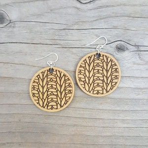 Katrinkles Knit Jewelry Circle Earrings