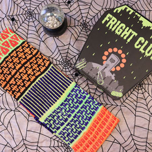 Jimmy Beans Wool Fright Club kits 2020 - Cowl-O-Ween (Bright)