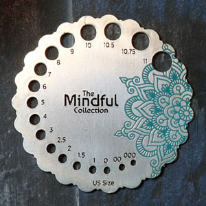 Knitter's Pride Mindful Collection Accessories Mindful Sterling Needle Sizer (Ships Mid Sept.)