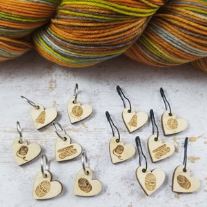 Katrinkles Stitch Markers Yarn Love