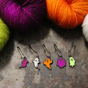 Jimmy Beans Wool Fright Club kits Haunted Stitch Markers Set