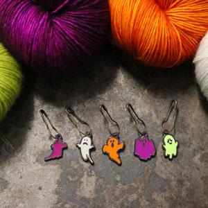 Jimmy Beans Wool Fright Club kits Haunted Stitch Markers Set