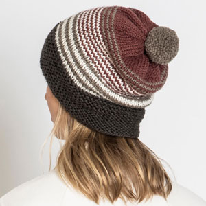 Blue Sky Fibers Kits kits Forest Lake Hat and Cowl- Chestnut