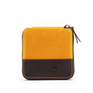 della Q Maker's Canvas Mini Zip - Square Mustard