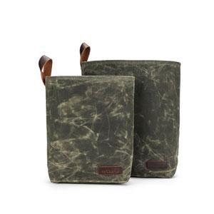 della Q Maker's Canvas Knit Sacks (Set of 2) Olive
