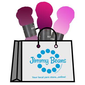 Jimmy Beans Wool 3 Skein Onesie Mystery Grab Bags kits Tosh MO Light - Pinks & Purples