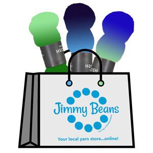 Jimmy Beans Wool 3 Skein Onesie Mystery Grab Bags kits Tosh Sport - Blues & Greens