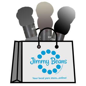 Jimmy Beans Wool 3 Skein Onesie Mystery Grab Bags kits Tosh Sport - Dark & Light
