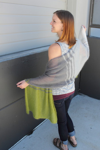 Welcome To The Kidsilk Haze Color Block Wrap Free Knitting Pattern