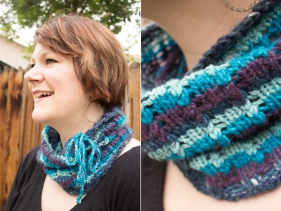 Lacy Stripes Cowl