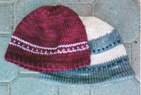 Here are the knitted hats!