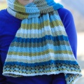 Asymmetrical Striped Shawl