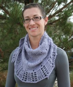 Emerald City Shawlette - Front