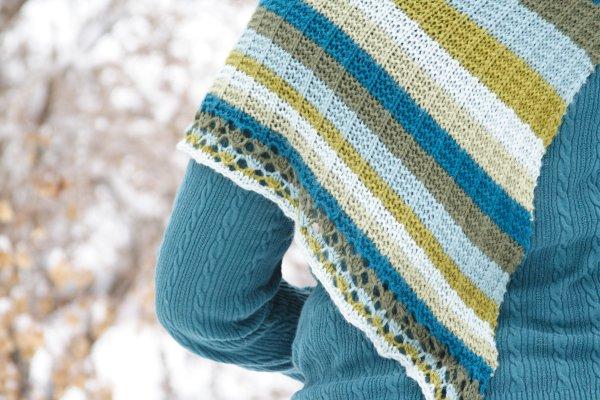 Asymmetrical Striped Shawl Free Knitting Pattern At Jimmy Beans Wool