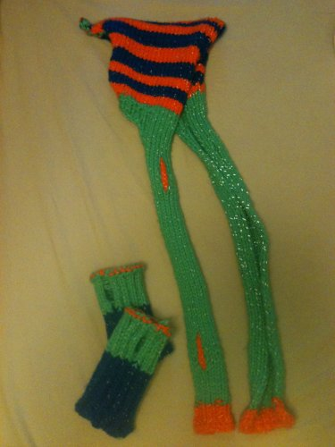 Elfin Sparkle Scood and Hand Warmers Free Knitting Pattern