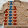 September 2007 Pattern Contest Winner: Buster - A Deconstructed Argyle Sweater by Ruth Homrighaus