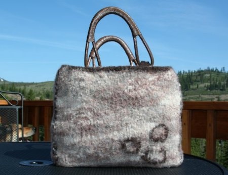 Felted Biggy Print Bag