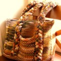 Hand Paint Chunky Landscape Collection - Woven Bag
