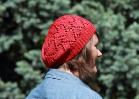 Ruby Red Heart Hat