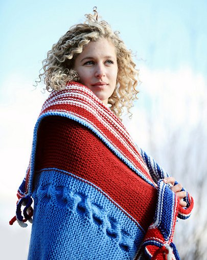 Stitch Mountain USA Throw Free Knitting Pattern